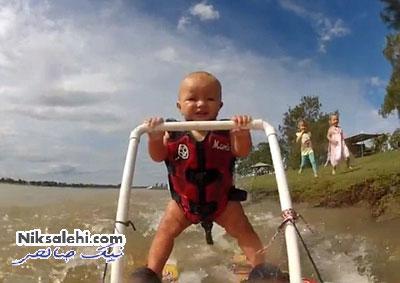 حرکت خارق العاده کودک هفت ماهه