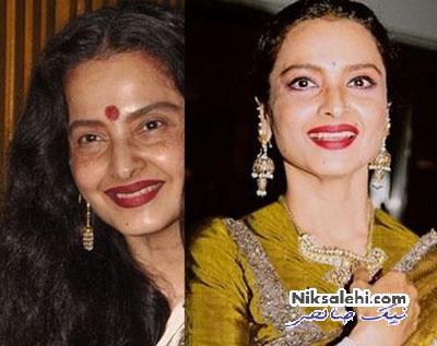 چهره بازیگران زن بالیوودی قبل و بعد از آرایش