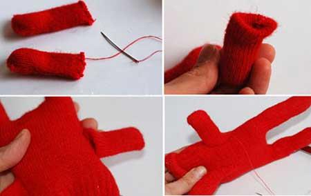 آموزش کاردستی هیولا با دستکش  تصاویر
