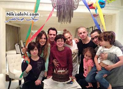 جنیفر لوپز در جشن تولد پسر شوهر سابقش