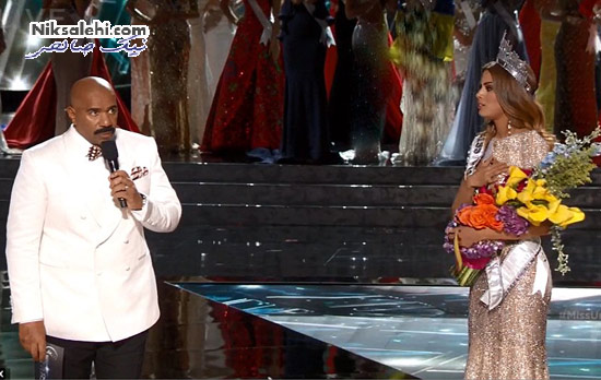 سوتی بسیار عجیب مجری رقابت های زیبایی دختر شایسته جهان
