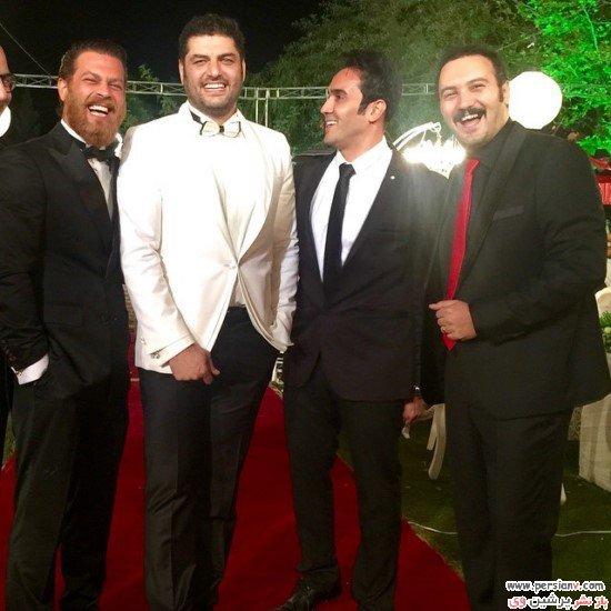 جشن عروسی سام درخشانی و همسرش با حضور هنرمندان تصاویر