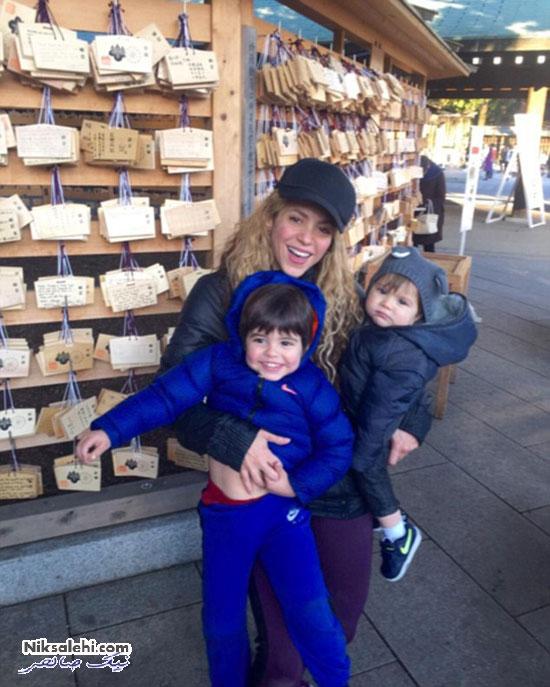 عکس های جدید شکیرا و فرزندانش در شبکه اجتماعی