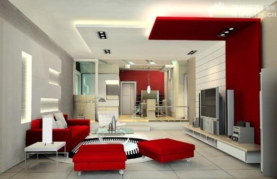 زیباترین دکوراسیون داخلی منزل با تم قرمز  تصاویر