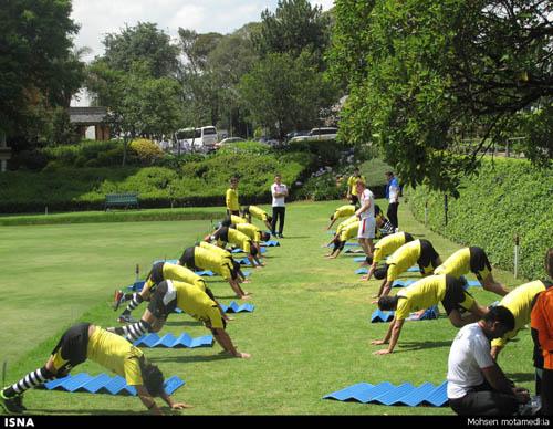 تمرین تیم ملی در ژوهانسبورگ
