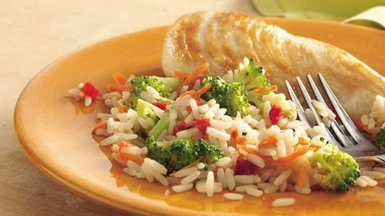 رنگین کمان غذایی با کانفتی برنج