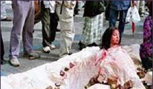 سنگسار زن پاکستانی