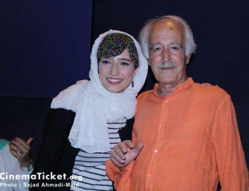 نگار جواهریان و پدرش در اکران مردمی قندون جهیزیه! تصاویر