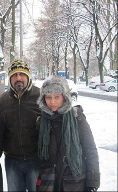 رضا عطاران و همسرش