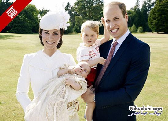 عکس خانوادگی جدید کیت میدلتون، همسر و دو فرزندشان در کریسمس