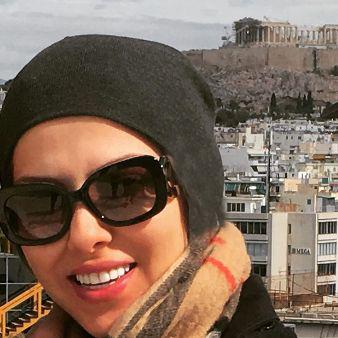 ظاهر جدید لیلا اوتادی در تعطیلات سال نو در یونان