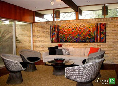 ایده هایی جالب برای تزئین دیوارها با پارچه های رنگی تصاویر
