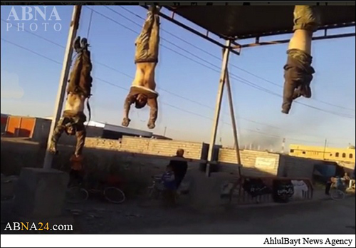 جنایت هولناک و وحشیانه جلاد داعش درحویجه
