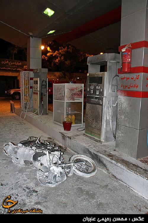 انفجار خونین در پمپ بنزین مشهد