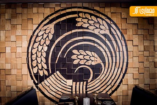 طراحی داخلی رستوران با الهام از نمادهای ژاپنی