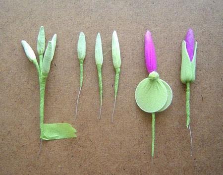 آموزش ساخت گل جورابی تصاویر