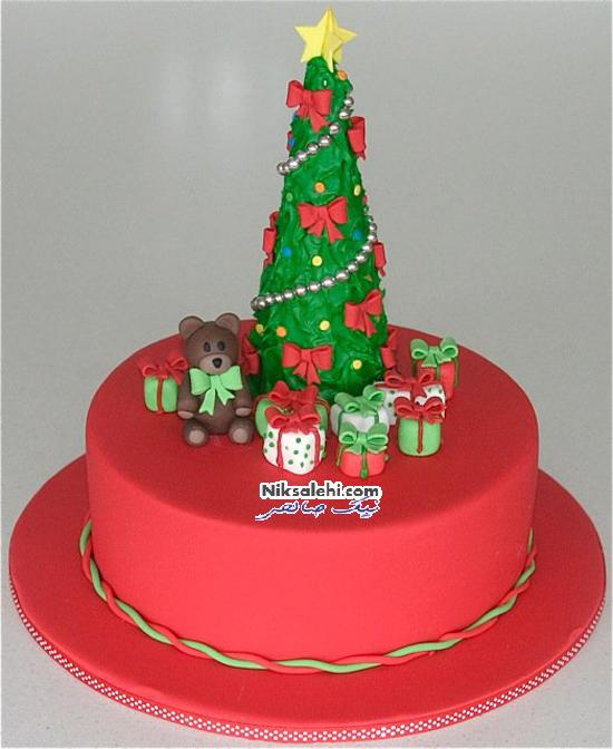 مدل کیک های ابتکاری با تزئین کریسمس