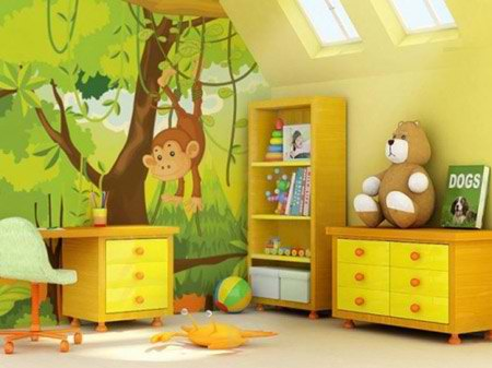 جدیدترین کاغذ دیواری اتاق کودک بسیار زیبا تصاویر