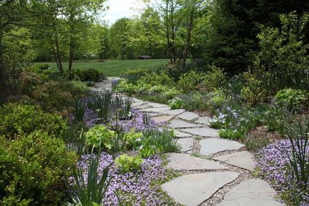 نمونه هایی از سنگ فرش باغ و حیاط  تصاویر