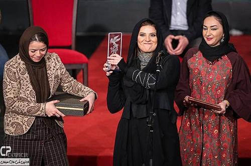 سحر دولتشاهی در مراسم اختتامیه جشنواره 33 فیلم فجر