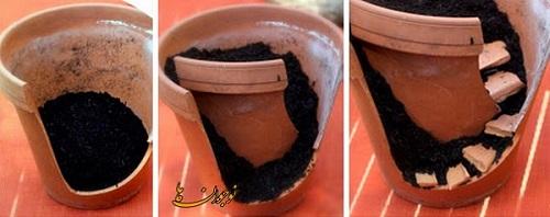 ساخت کاردستی گلدان همه کاره  تصاویر