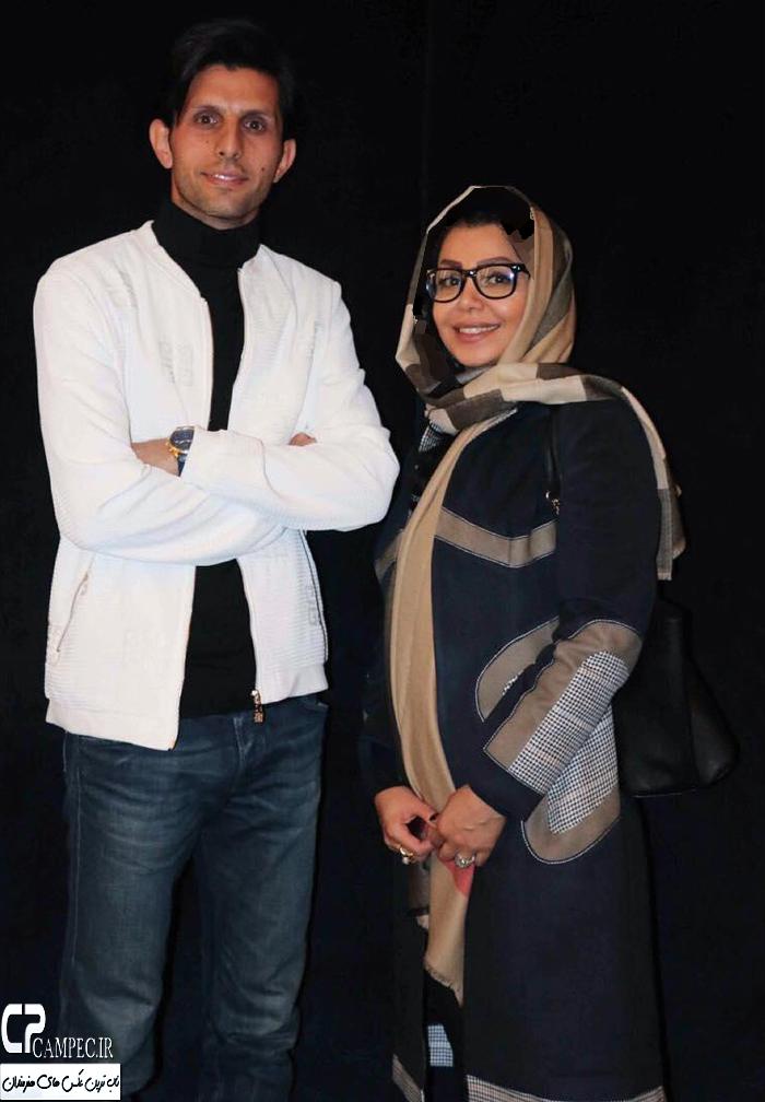 وحید طالب لو و همسرش در اکران یک فیلم