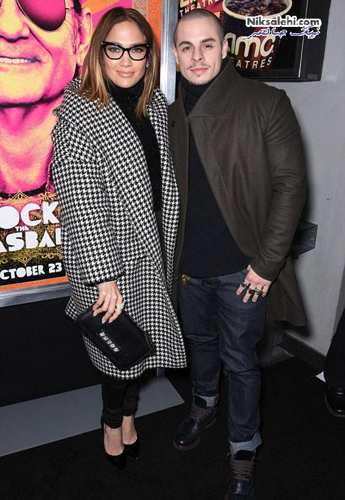 جنیفر لوپز و لیدی گاگا و نامزدهایشان در افتتاحیه فیلم