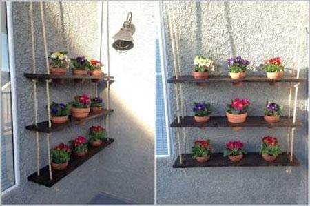 ایده هایی زیبا برای جا گلدانی  تصاویر