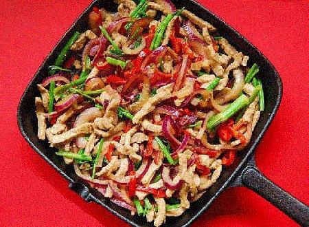 روش پخت خوراک گوشت و رشته