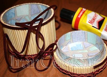 ساخت کاردستی جعبه جواهر چوبی  تصاویر