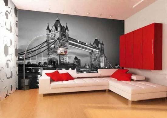 مدل های کاغذ دیواری زیبا و جدید پوستری
