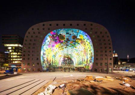 بازاری عجیب و بزرگ شبیه تونل در هلند تصاویر