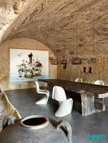 اتاق غذاخوری با دکوراسیونی روح بخش