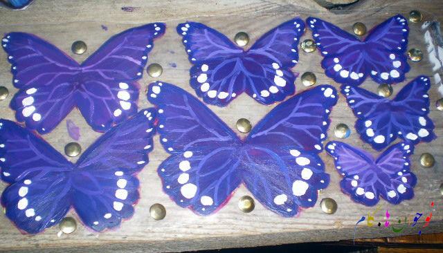 ساخت کاردستی پروانه های تزیینی  تصاویر