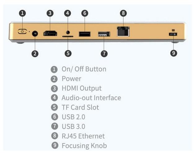 کامپیوتر لمسی کوچک با پروژکتور داخلی قوی
