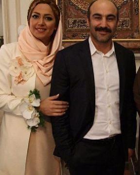 محسن تنابنده بازیگر پایتخت در کنار همسرش عکس