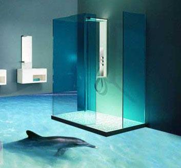 طراحی منحصر به فرد سرویس بهداشتی با کف پوش سه بعدی تصاویر