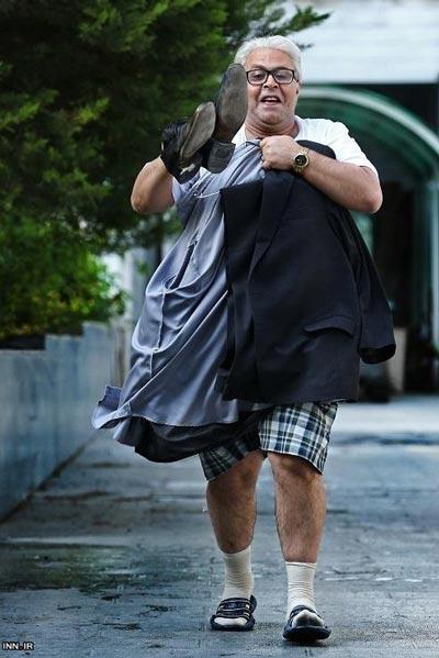 فرهاد اصلانی با شلوارک در خیابان! عکس