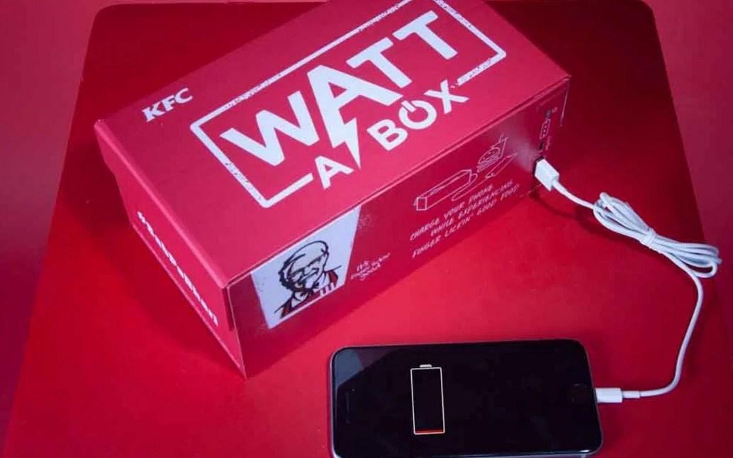 جعبه غذاهای KFC که میتواند گوشی موبایل را شارژ کند