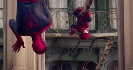 مرد عنکبوتی در یک آگهی تلویزیونی
