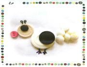 ساخت کاردستی با دکمه ها  تصاویر