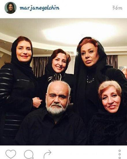 سلفی بازیگران زن در مجلس عزای پدر اکبر عبدی! عکس