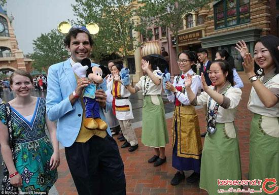 پارک تفریحی زیبای دیزنیلند در شانگهای چین! تصاویر