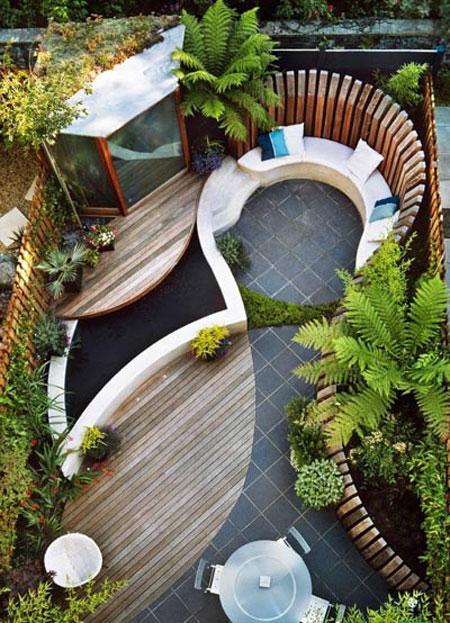 طراحی داخلی حیاط های نقلی با ایده های ساده و کاربردی  تصاویر