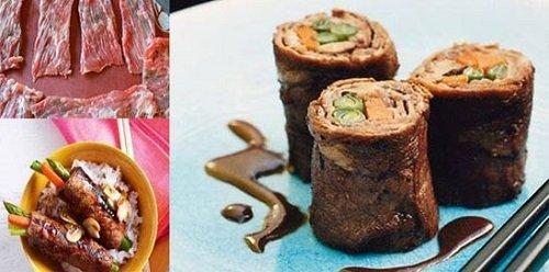 طرز تهیه بیف ماکی ژاپنی با سبزیجات