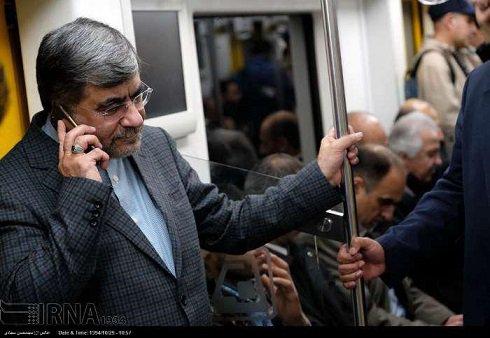 مترو سواری جالب علی جنتی وزیر فرهنگ و ارشاد تصاویر