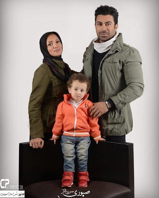 عکس های جالب و زمستانی روناک یونسی و همسر و پسرش