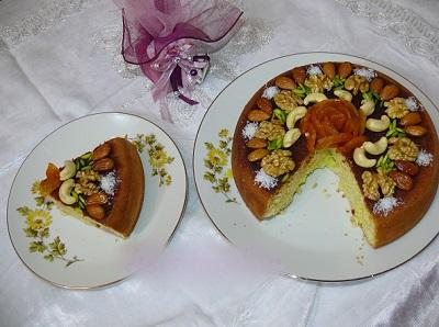 با این کیک آجیلی مهمانانتان را شگفت زده کنید!