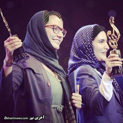 مهناز افشار و نورا هاشمی در جشن حافظ عکس