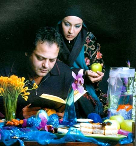 زیبا بروفه در کنار برادر و همسرش، پیام صابری تصاویر